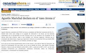 Agustín Marichal debutó ayer como artista estelar del Caso Arona 2. Espectacular...