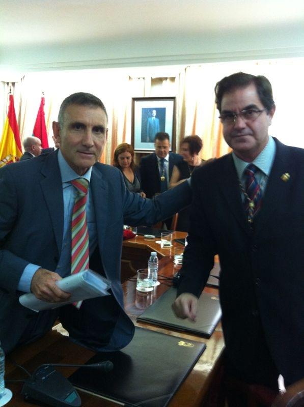 Nuevo alcalde Arona, Francisco Niño, (CC) y José Antonio Reverón (CxA)
