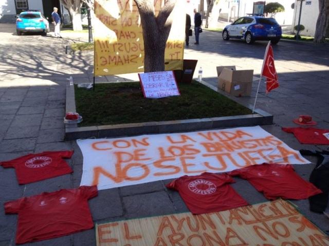 Protesta socorristas Arona, 2