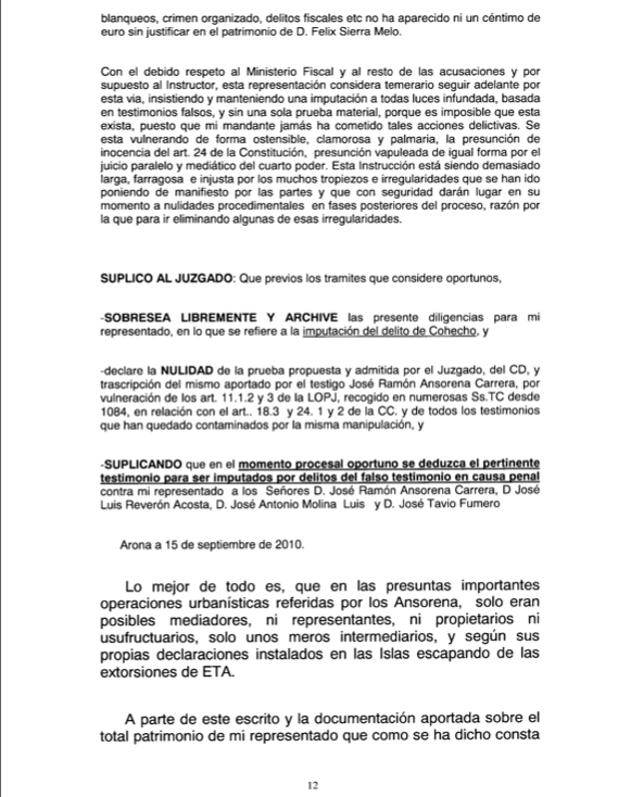 Recurso acusados Caso Arona 1, pag 12
