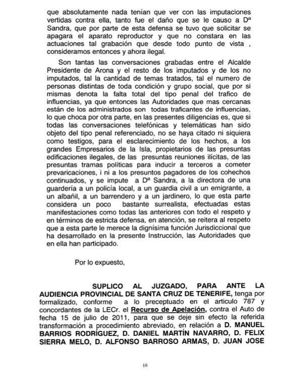 Recurso acusados Caso Arona 1, pag 18