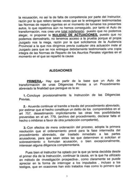 Recurso acusados Caso Arona, 3