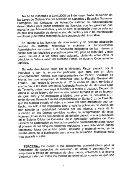 Recurso acusados Caso Arona, 6