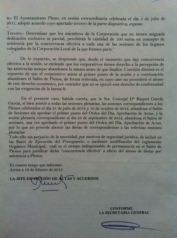 Ayuntamiento Arona sanciona a la oposición por mala fe