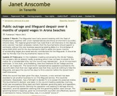Blog de Janet Anscombe ofrece en ingles detalladísima crónica del drama de los socorristas de Arona