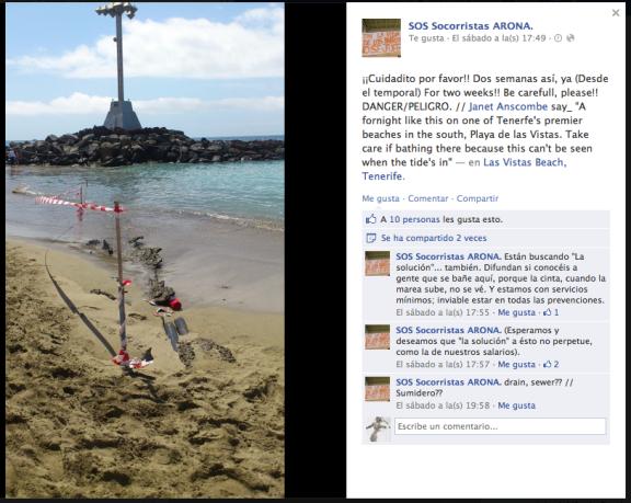 Dos semanas de peligro en el entorno de la fuente de la playa de Las Vistas.