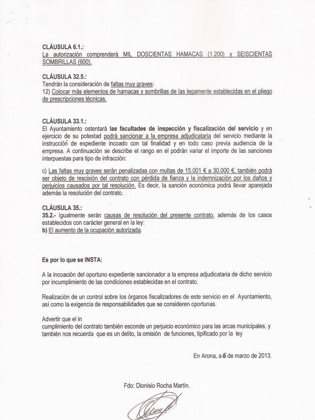 PP denuncia infracción servicio hamacas b, 2013