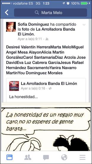 Sofia Dominguez, prensa Arona